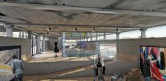 La cale du bâtiment flottant Fluctuart ©Seine Design