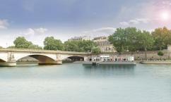 Fluctuart vu depuis la Seine ©Seine Design